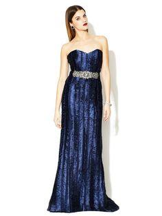 Badgley Mischka Sweetheart Jewel Belted Gown