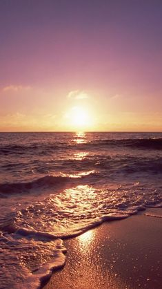 Ocean Sunset Foamy Waves 2018 iOS 11 iPhone X Wallpaper HD Check more at phonewa. - Wallpaper World