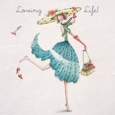 "Cards "" Loving Life "" - Berni Parker Designs ღ✟ Art Fantaisiste, Creation Photo, Finding Neverland, Crazy Friends, Whimsical Art, Birthday Greeting Cards, Cute Illustration, Love Life, Art Drawings"