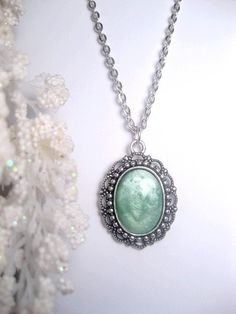 Hey, I found this really awesome Etsy listing at https://www.etsy.com/listing/222637623/mint-necklace-opaque-pastel-green