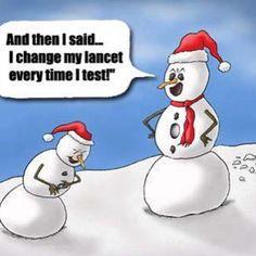 diabetes christmas cards