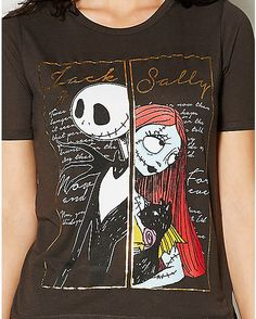Nightmare Before Christmas Jack and Sally Tee - Spencer's
