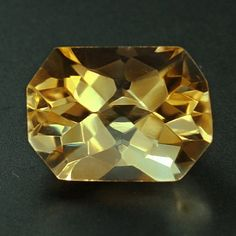 Exquisite Custom Cut Citrine 3.4ct by madcityfinearts on Etsy, $17.50