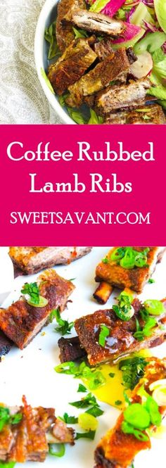 coffee rubbed lamb ribs Black History Month Virtual Potluck  sweetsavant.com #BHMpotluck