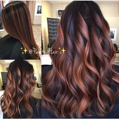 ❤✨🌹All Angles of Rose Gold 🌹✨PaintedHair✨ 💃🏻Straight and Waved🌊❤! What do you think? Be sure I leave your comments and questions… Brown Hair Balayage, Hair Highlights, Bayalage, Cabelo Tiger Eye, Rose Gold Hair Brunette, Rides Front, Ombré Hair, Hair Affair, Grunge Hair