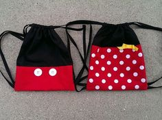 I made these little drawstring backpacks for our trip to Disneyland!  No tutorial, just a picture; sorry! - bags, fashion, weekend, laptop, weekend, gucci bag *ad