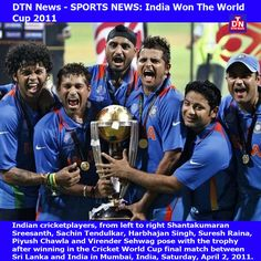 DTN News - SPORTS NEWS: India Won The World Cup 2011....NSI News Source Info # 1761 (Image # 2)  Source: DTN News - - By K. V. Seth  (NSI News Source Info) TORONTO, Canada - April 2, 2011: India beat Sri Lanka to win the World Cup for the first time in political campaigns India Win, Sachin Tendulkar, Cricket World Cup, Political Campaign, World Cup Final, News Source, Toronto Canada, News India, Current Events