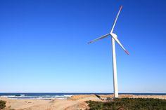 茨城県の南東の突端にある神栖市(旧波崎町)へ風力発電用の風車