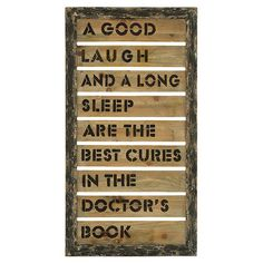 Typographic wall art in a weathered wood frame.      Product: Wall art  Construction Material: Wood  ...