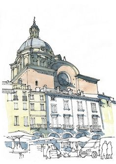 How to Sketch Architecture, How to Keep a Sketchbook #art #sketch #watercolor #italy