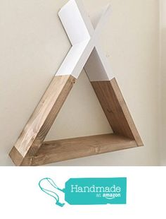 Teepee Shelf, Teepee Shelves, Geometric Shelf, Triangle Shelf, Woodland Nursery Decor, Tribal Nursery Decor, Minimalist Wall Shelf, Hipster, Triangluar Floating Shelf, Rustic Floating Shelves from The Appalachian Artisans http://www.amazon.com/dp/B01G719VXW/ref=hnd_sw_r_pi_dp_eXouxb1F53M6W #handmadeatamazon