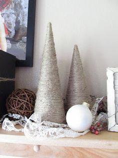 A Lott Of Ideas: { jute cone tree } Christmas