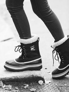 Caribou Weather Boot | $140 | Black Stone (Sorel) | 7.5...no longer at Free People but still available online on numerous sites.