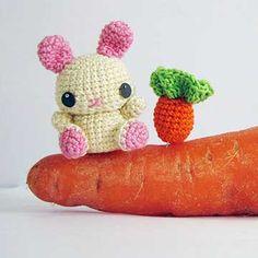 Pea Bunny amigurumi crochet pattern by Sweet N' Cute Creations