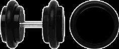Piercing Schmuck Shop. Acryl Ohr Piercing Schmuck Fake Plug schwarz + Stab in 1,2 mm