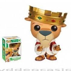 FIGURA POP DISNEY ROBIN HOOD: PRINCE JOHN … en Dvd de Ocasión, Personaje POP fabricado por Funko de Prince John de la película Disney Robin Hood, con 9 cm de alto en vinilo se presenta en una caja de