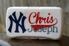 New York Yankees Personalized Baby WIpes Case