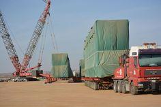 ALE transport and installed heavy solar power equipment to Duba Green, Saudi Arabia  #cranepedia #ale
