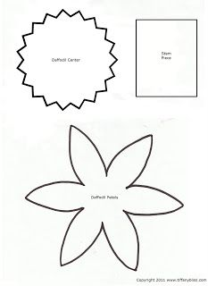 1000 images about paper flowers on pinterest daffodils for Template of a daffodil