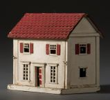 vintage doll house, cute simple, folk art dollhouse. .....Rick Maccione-Dollhouse Builder www.dollhousemansions.com