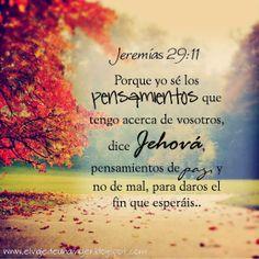 Jeremias 29:11 /Frases ♥ Cristianas ♥ www.elviajedeunamujer.com