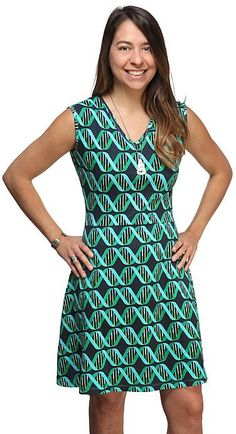 DNA Double Helix Ladies' Fit and Flare Dress: ThinkGeek is offering this Women's DNA Double Helix Fit and Flare Dress… #coupons #discounts