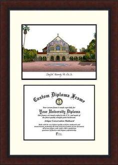 stanford university diploma frame lithograph legacy series - Diploma Frames Walmart