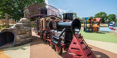Turkey Thicket Recreation Center - Train-Themed Playground