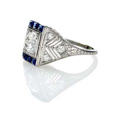 Leigh Jay Nacht Inc. - Art Deco Engagement Ring - R410