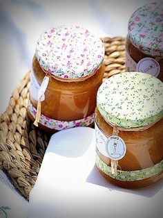 Country Prints for Marmelade Jars. ______________________________ Telas country para Tarros de Mermelada.