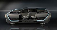 Chrysler debuts its Portal Concept, an electric minivan, at CES in Las Vegas. The Portal is semi autonomous and can travel more than 250 miles per charge. Mini Vans, Las Vegas, Selfies, Monospace, New Fiat, Self Driving, Concept Cars, Futuristic, Yachts