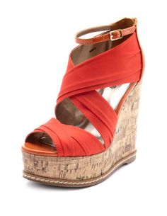 3eed37a28d50 Colored wedges  comfortable to walk in (don t like the ankle strap)