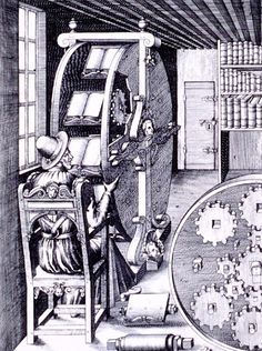 "Illustration from the book ""Le diverse et artificiose machine"" by Agostino Ramelli (1588)."