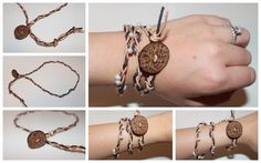 My Happily Ever After: Leather and Pearls Bracelet {Tutorial}
