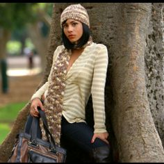 Matching scarf and hat...cute