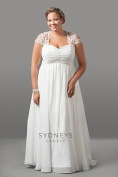 Sydney's Closet Plus Size #BridalGown At: http://www.fresnoweddings.net/weddingdresses2.html