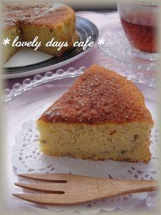 ヘルシー♡米粉バナナケーキ