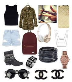 """b"" by divinearaujo on Polyvore featuring Banana Republic, T By Alexander Wang, Topshop, maurices, Herschel Supply Co., Sonix, GUESS, ABS by Allen Schwartz and Waterford"