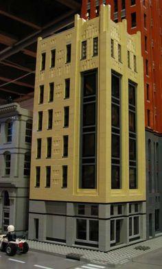 Colonial Department Store, Art Deco Style in downtown Detroit. By decojim- Jim Garrett Lego Building, Building Design, Lego Skyscraper, Lego Construction, Lego Modular, Cool Lego Creations, Awesome Lego, 1920s Art, Lego Architecture