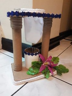 Costa Rica, Vase, Table Decorations, Gabriel, Gardens, Wire, Recycling, Recycled Materials, Crafts With Bottles