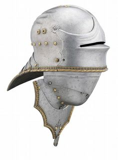 A GERMAN VISORED SALLET AND BEVOR IN THE LATE 15TH CENTURY HIGH 'GOTHIC' STYLE OF LORENZ HELMSCHMIED OF AUGBURG, 19TH CENTURY