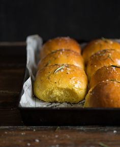 Pumpkin Rolls With Rosemary and Sea Salt