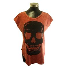 rough print skull tee - a different color please