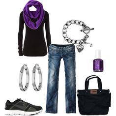 Purple, black, silver, & gray