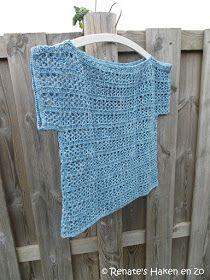 Hoog op mijn to-do-lijstje staat al een poosje het gehaakt zomertruitje van byClaire. Met het heerlijke zomerweer een paar weken geleden, h... Crochet Cowel, Crochet Tunic, Diy Crochet, Crochet Clothes, Crochet Top, Beginner Knitting Patterns, Knitting For Beginners, Hand Knitting, Craft Ideas