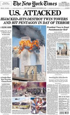 Vintage September 12, 2001, New York Times