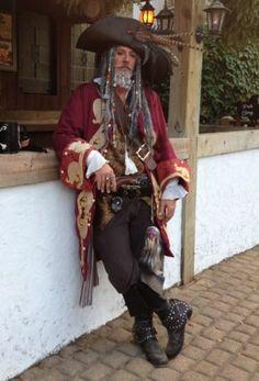 Captain Teague Renaissance Pirate POTC frock coat with full trim details