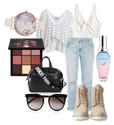 Untitled #19 by huetpaula on Polyvore featuring polyvore fashion style Wildfox Current/Elliott Timberland Givenchy Olivia Burton Calvin Klein Huda Beauty ESCADA clothing  #lookbook #outfit
