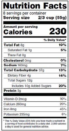 Free Nutrition Label Maker