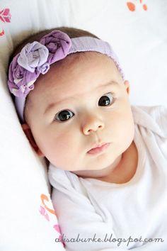 diy baby headband reddirtchild